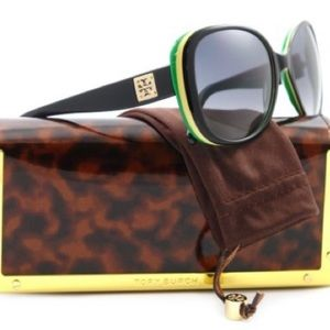 Tory Burch sun glasses w case
